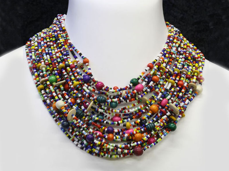 Multi colour with beads