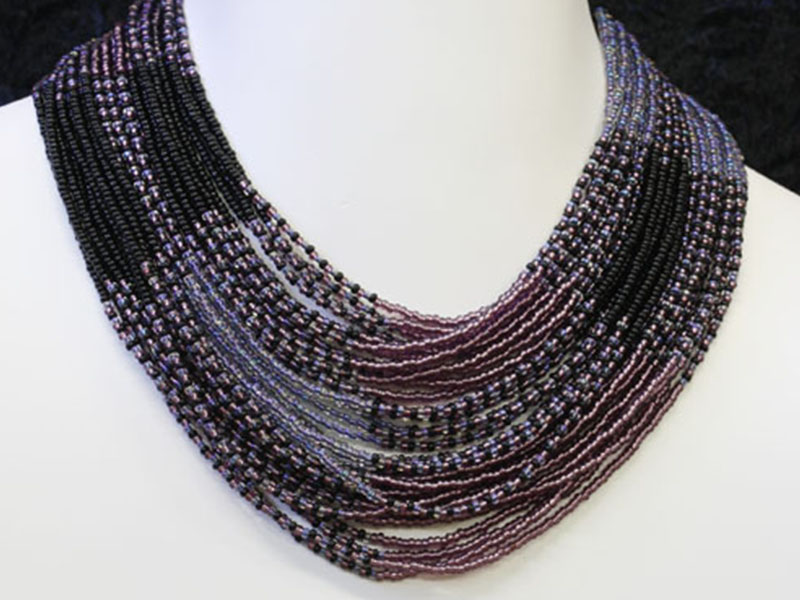 Purple, black and silver