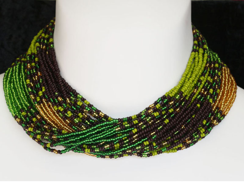 Silverline green, amber and black
