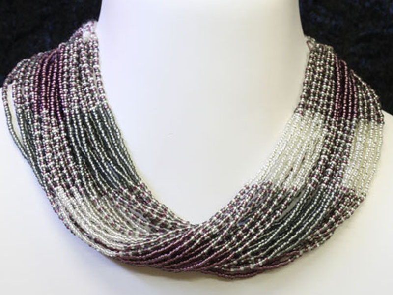 Silver, clear and purple