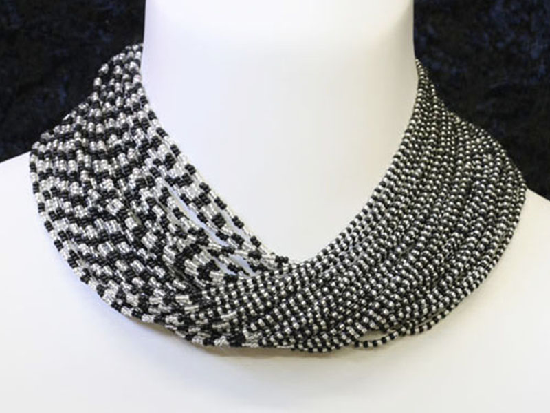 Transparent silver and black