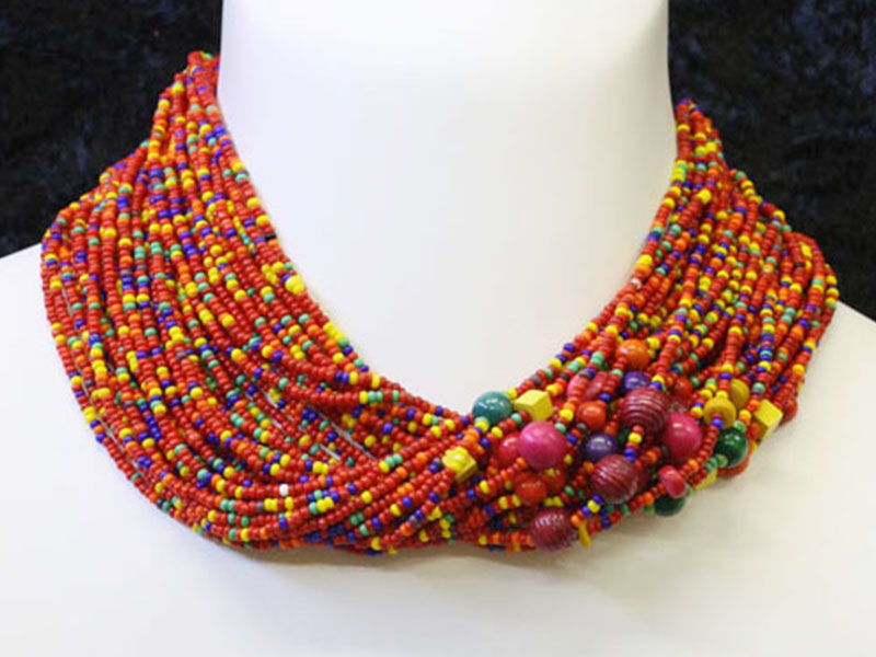Mutli colour with bead accents