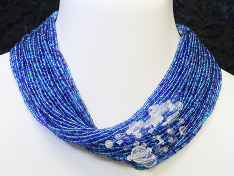 Blue, turquoise with fancy bead accents