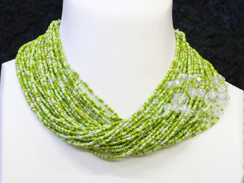 Greens with fancy bead accents