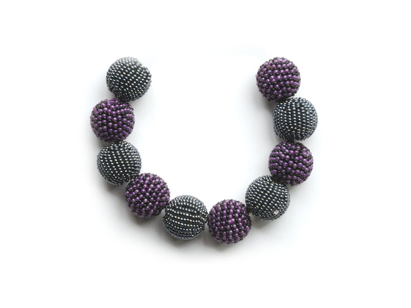 Grey, purple and black