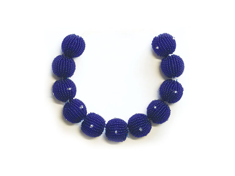 Blue with transparent bead