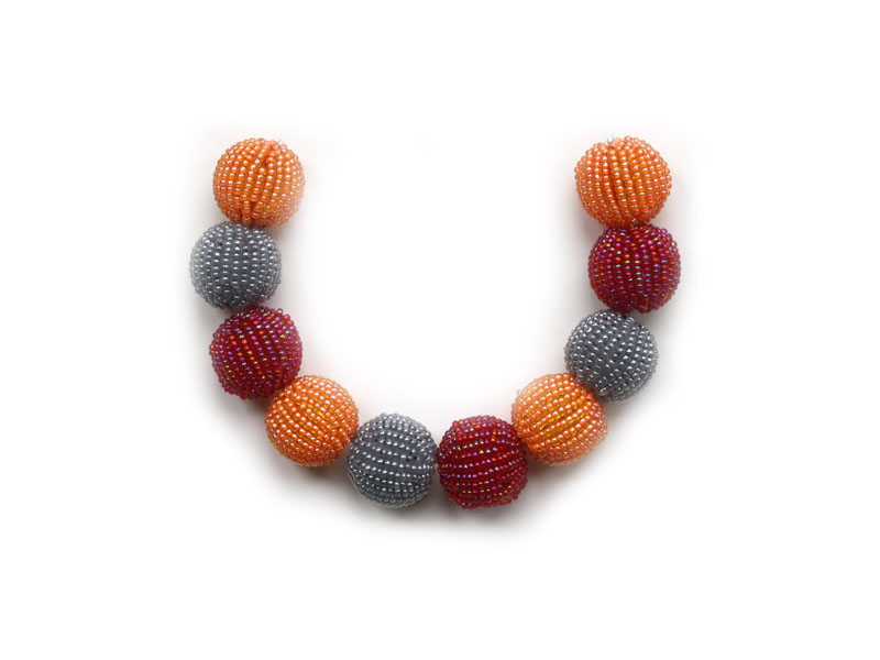 Grey, orange and red