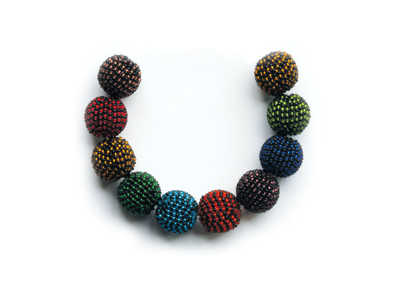 Mixed bead multi colour
