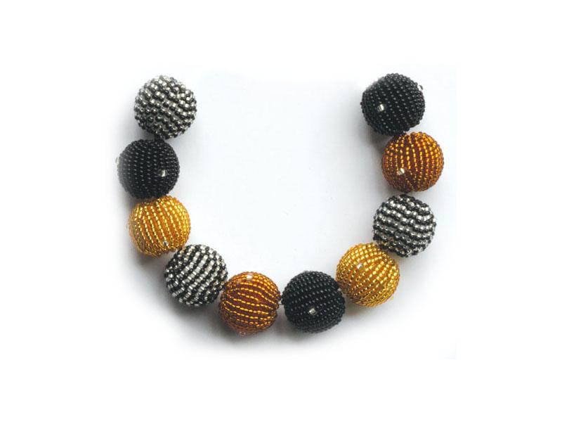 Black, amber and black, transparent mix