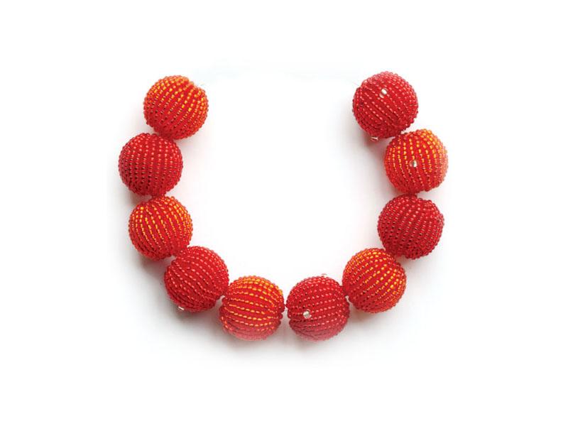 Bright red and orange