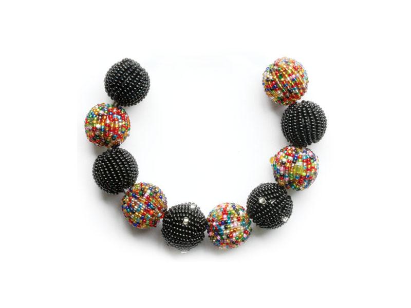 Black and mixed colour balls