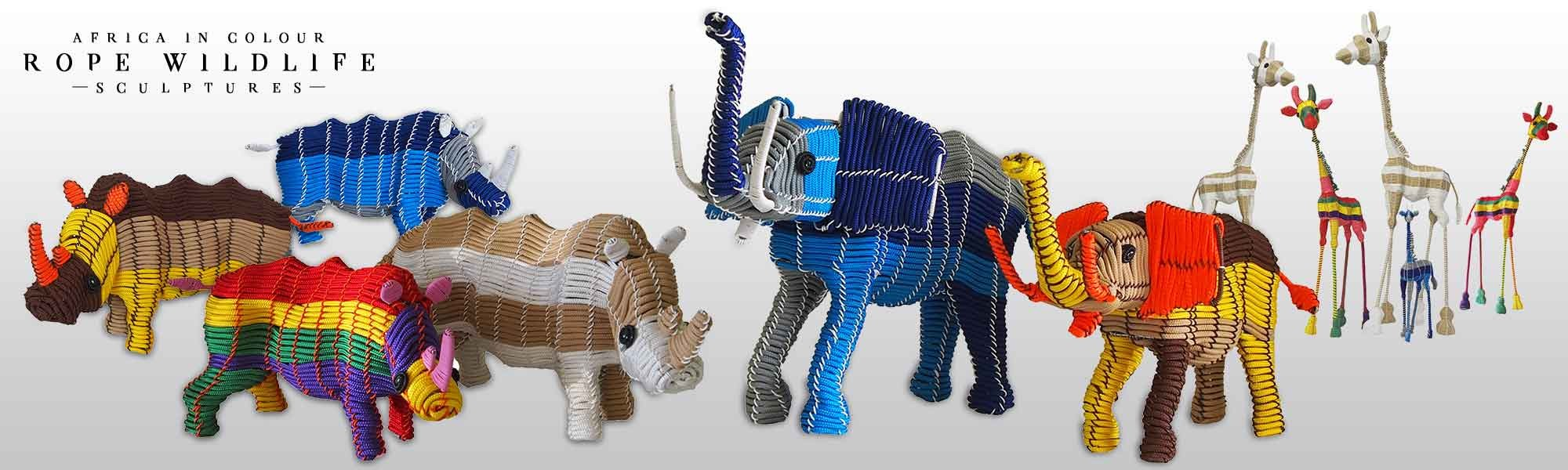 African in Colour Rope Animals