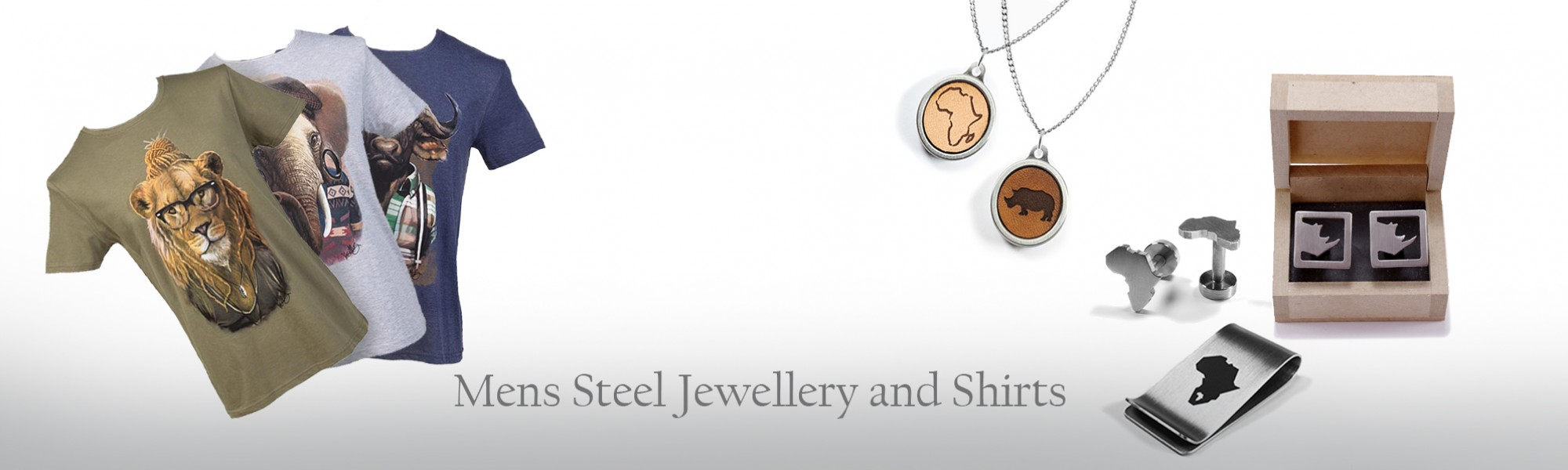 Men's Steel Jewellery and Shirts