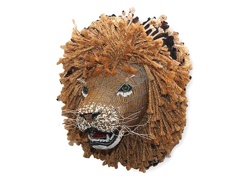 Bead and Wire  Rope Lion Wall Hanging