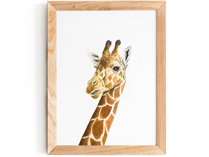 Water Colour Baby Giraffe Print