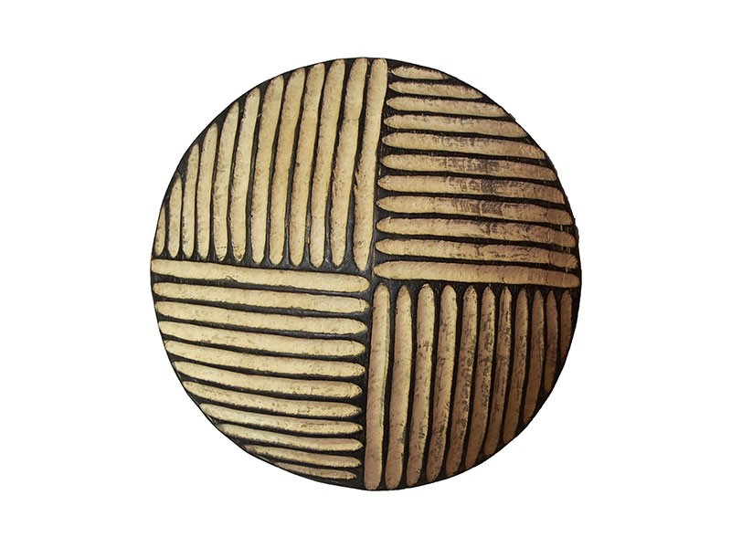 Small Carved Wood Shield - Quatered