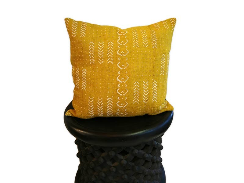 "Cushion Cover 45 x 45cm /18"" x 18"" - Yellow"