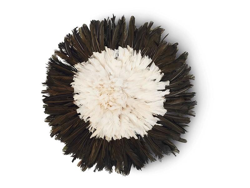Juju Feather Hat Black & White 50cm