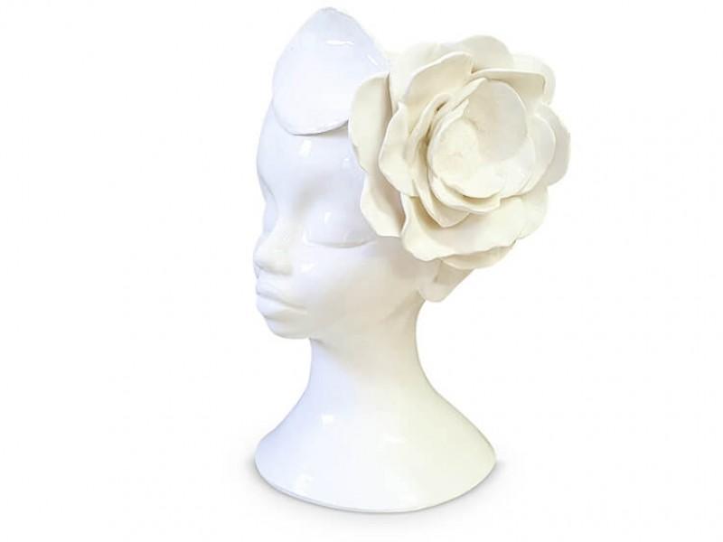 Handmade Ceramic Lady Planter - One Flower