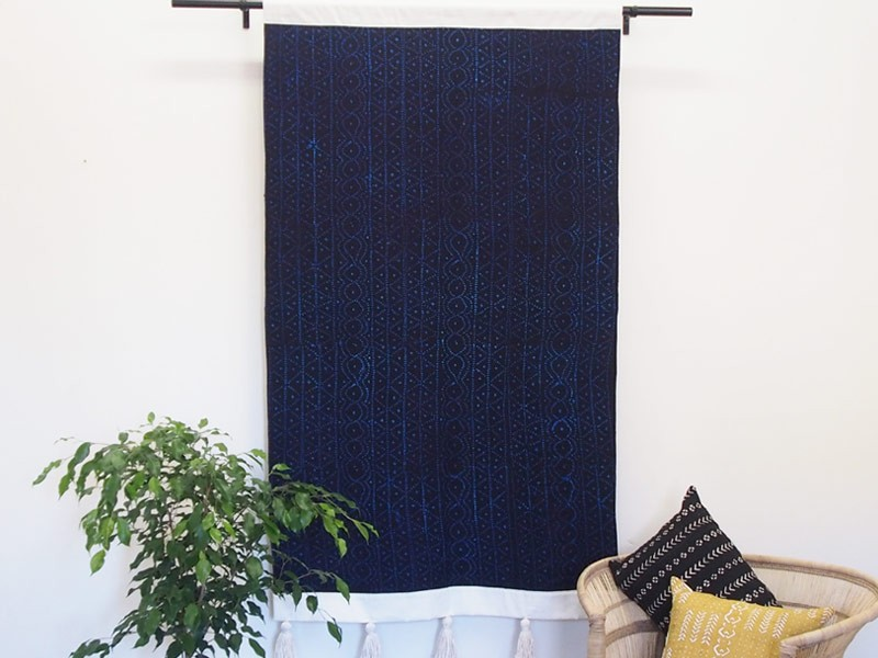 Indigo Cloth Wall Hanging