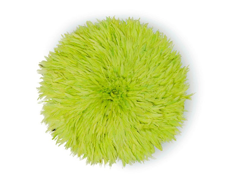 Juju Feather Hat Lime Green 50cm