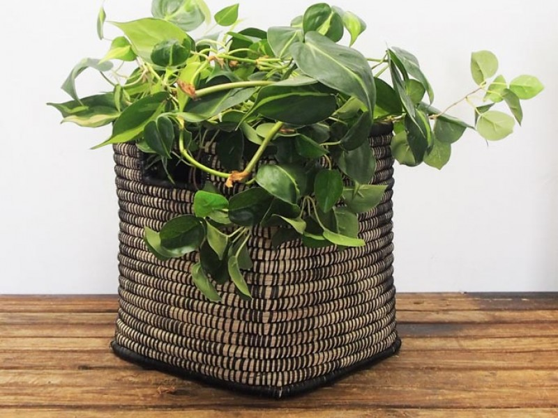 Malawi Basket - Square - Black and Natural