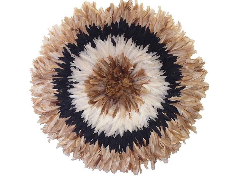 Juju Feather Hat Natural, Black, Ivory, Natural 80cm