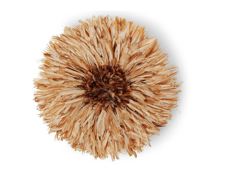 Juju Feather Hat Natural Brown