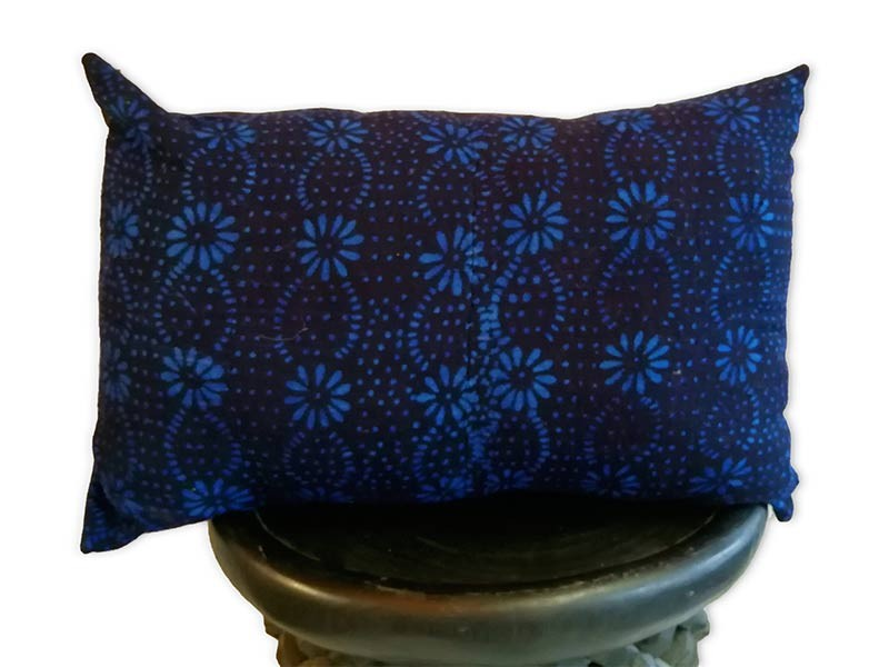 "Lumbar Cushion Cover 60 x 40cm /24"" x 16"" Indigo"