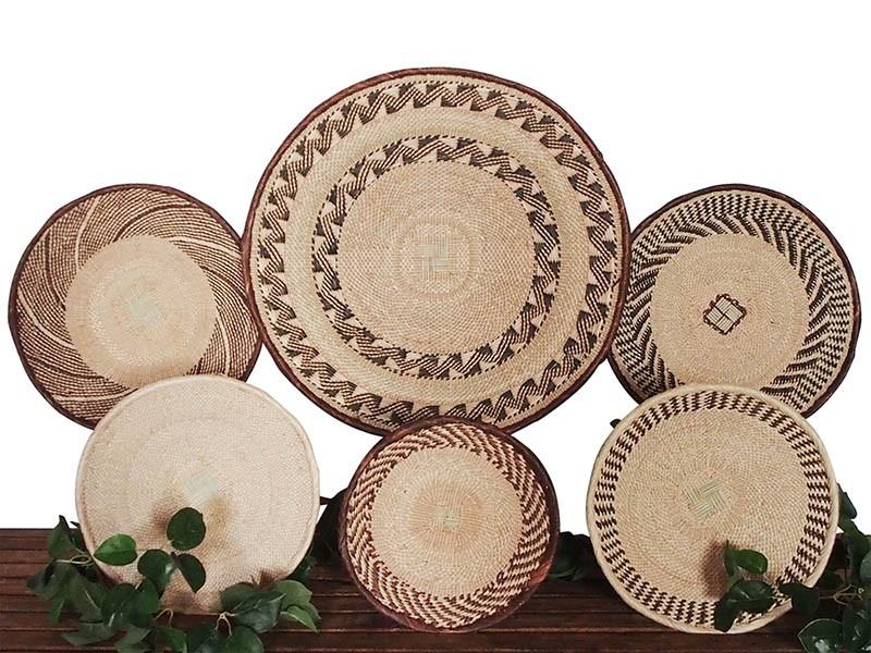 Binga Basket Set of 6 African Baskets  (set13)