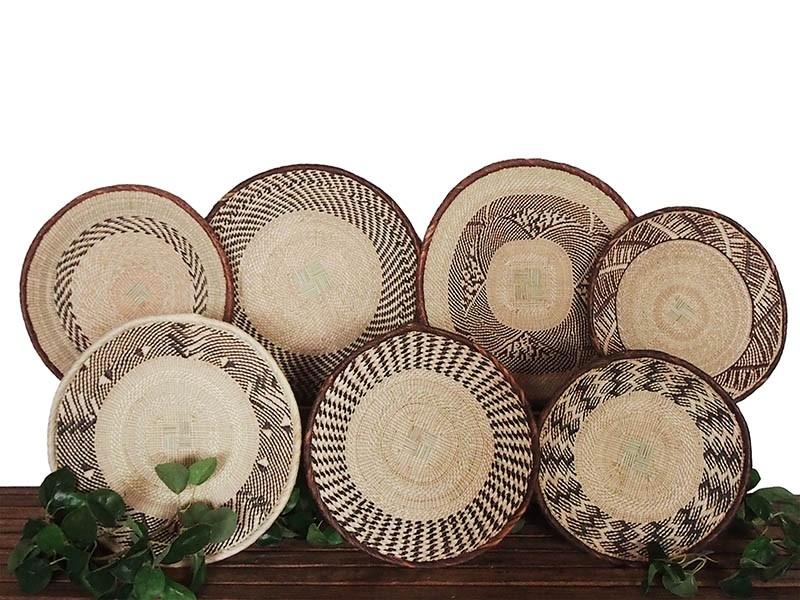 Binga Basket Set of 7 African Baskets.