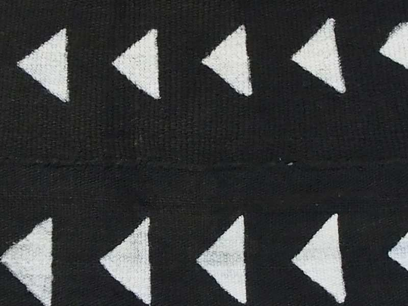 Black Bogolan Mud Cloth Triangle