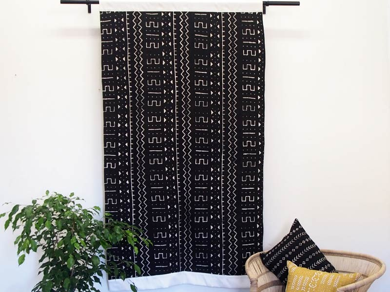 Black Mudcloth Wall Hanging