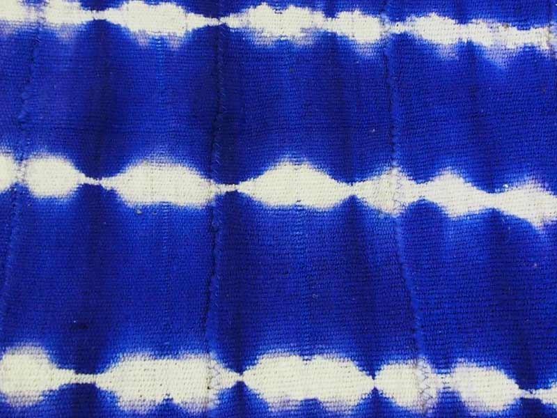 Indigo tie-dye Bogolan Mud Cloth - Blue