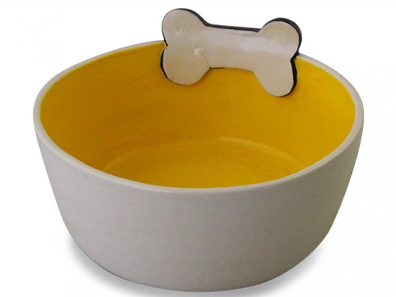 Ceramic Dog Bowl - Bone