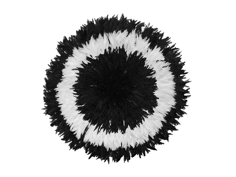 Juju Feather Hat Black & White