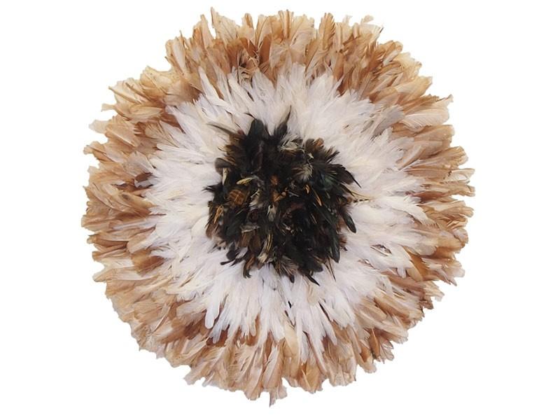 Juju Feather Natural & Cocarde  50cm
