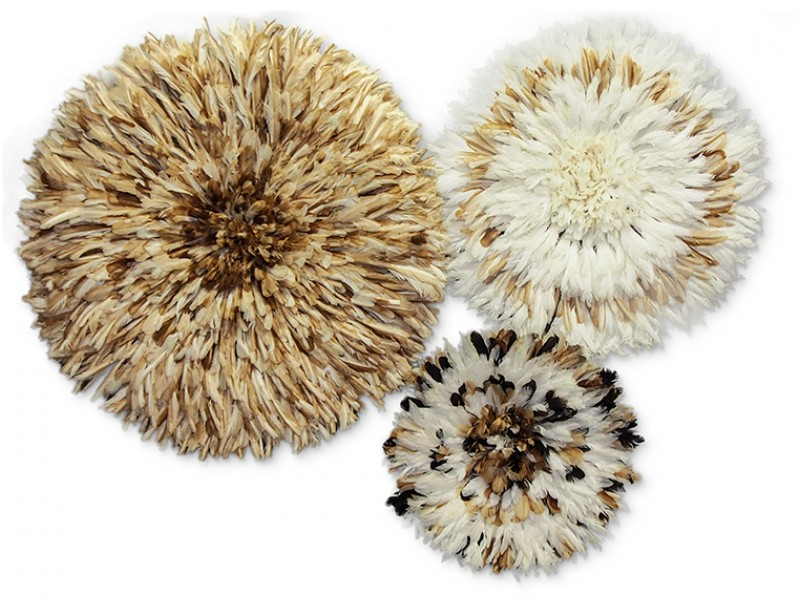 Juju Hat Natural and Ivory Set