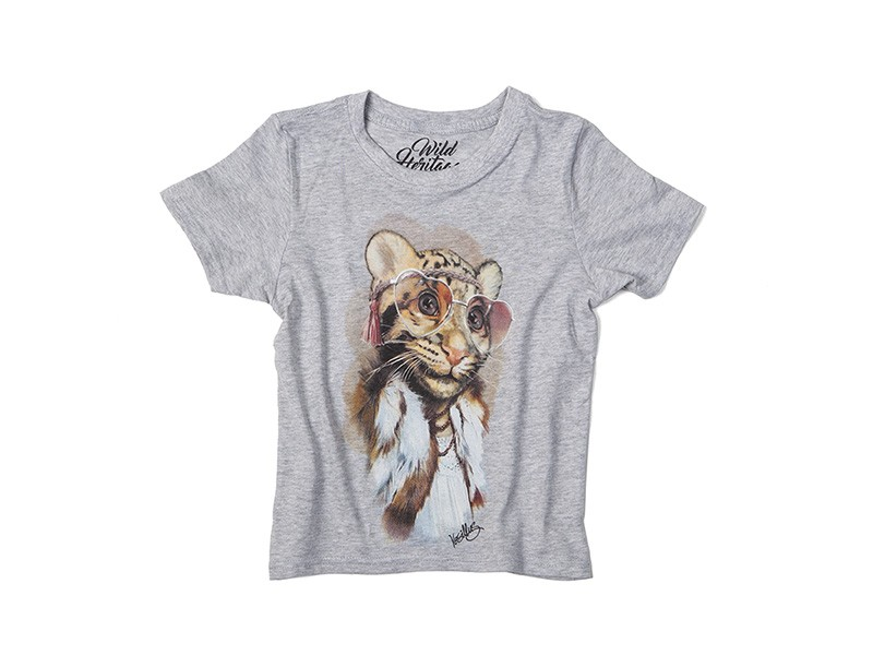 Girl Leopard Cub T-Shirt Kids