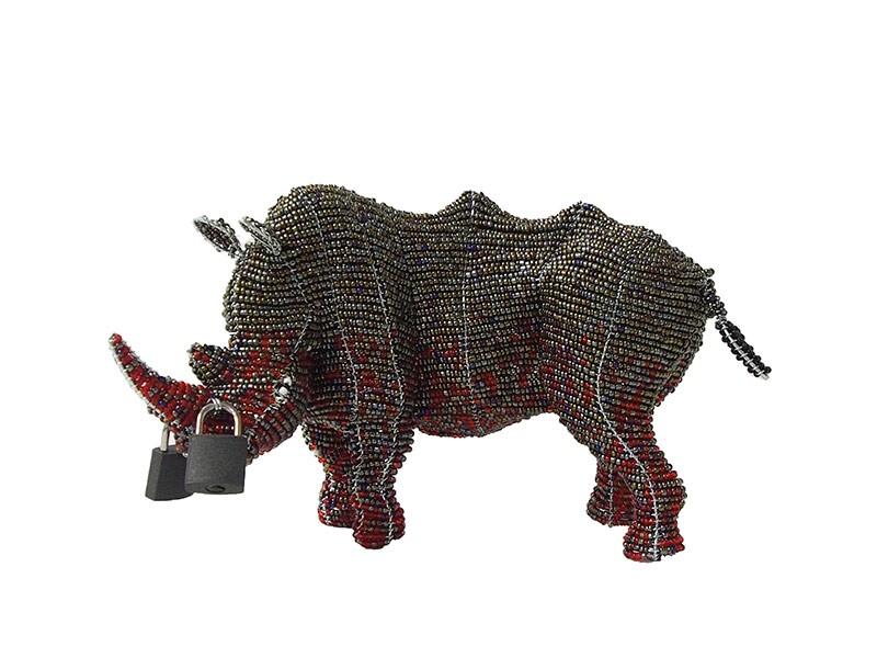 Locked Horn Rhino Small