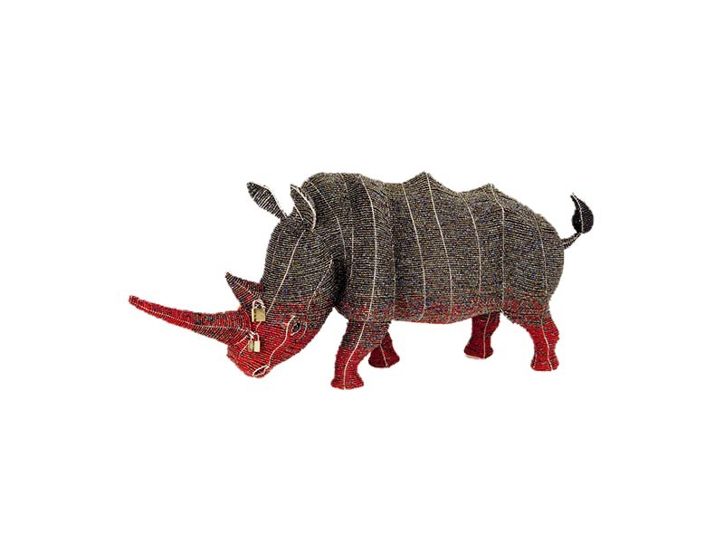 Locked Horn Rhino Adult