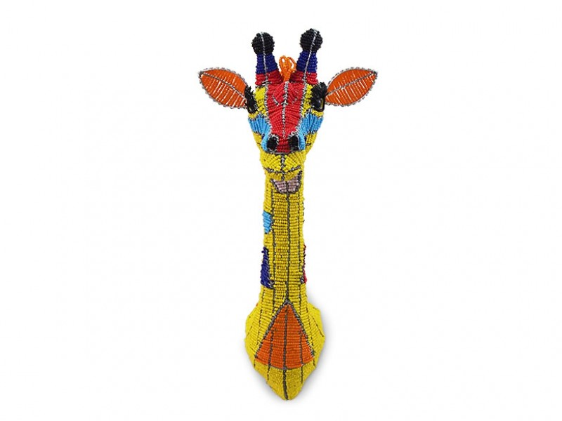 Mini Colourful Beaded Giraffe Head