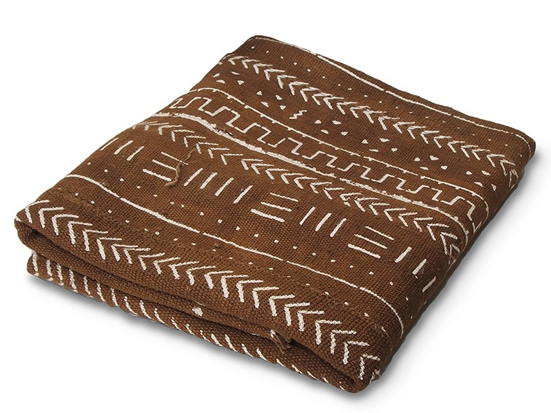 Hazelnut Brown Bogolan Mud Cloth
