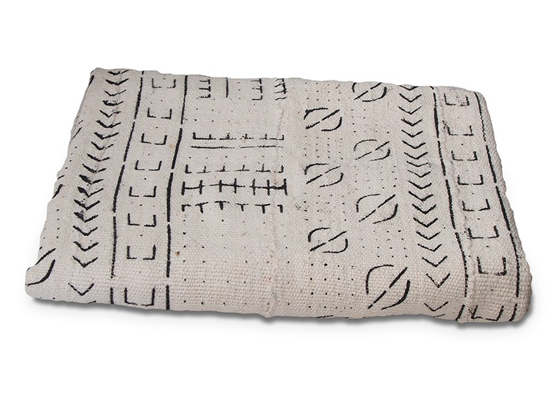 White Bogolan Mud Cloth