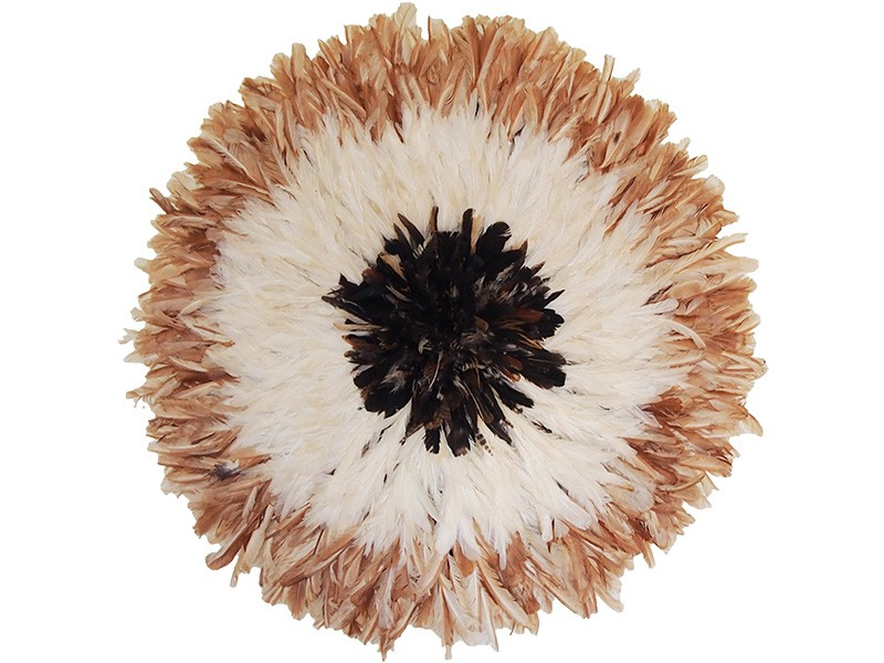 Juju Feather Hat Natural, Ivory, Partridge 80cm