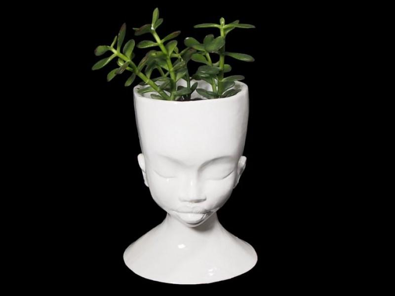 Handmade Ceramic Lady Planter - Plain