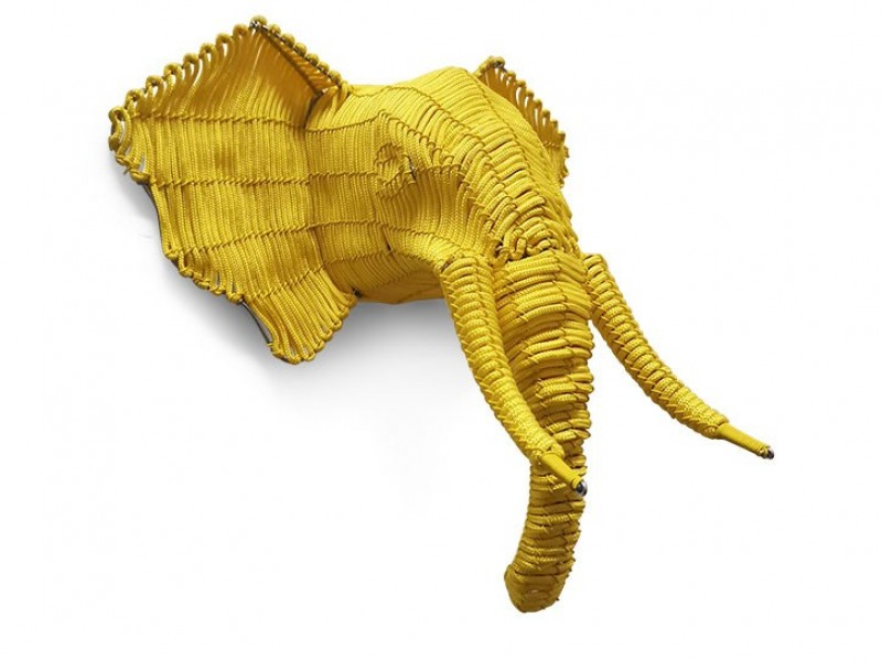 Rope Elephant Head - Mini