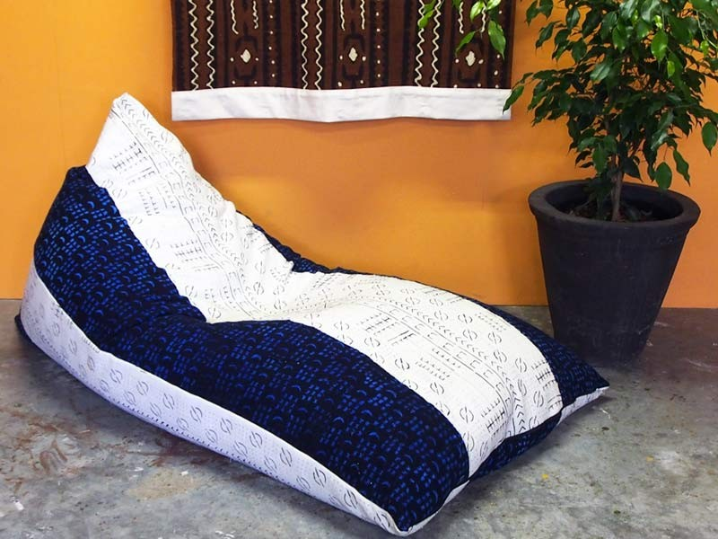 Mudcloth Bean Bag  Two Tone