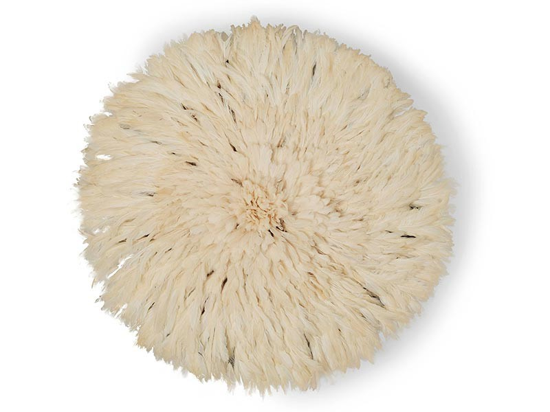 Juju Feather Hat White