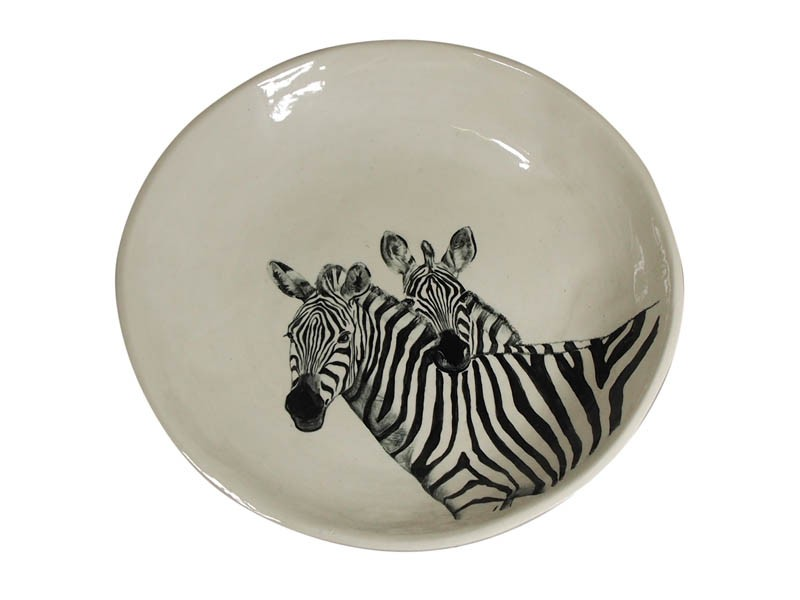Ceramic Zebra Bowl